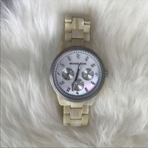 Michael Kors Mother of Pearl Horn Watch